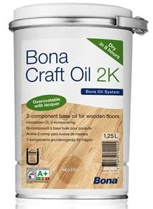 Olej Bona CRAFT OIL 2K - Jasnoszary 1,25L